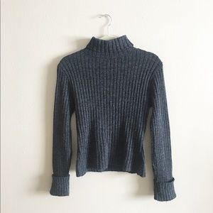 Sweaters - Grey Knit Turtleneck Sweater Size XS/Small
